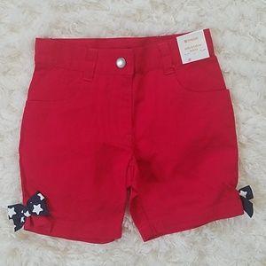NWT Gymboree Girls shorts size 3 4th of July